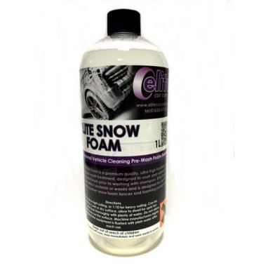 elite snow foam professional pre-wash foam 1 litre