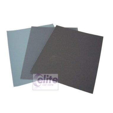 Elite Wet or Dry Finishing Abrasive Papers 600 Grade - 3 pack