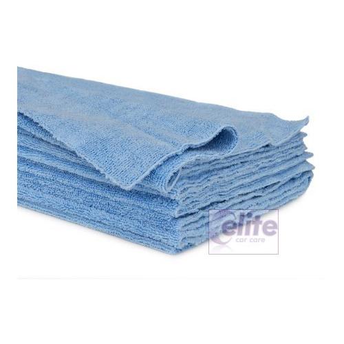 Elite Zero Edge Blue Microfibre Buffing Cloths - Pack of 3