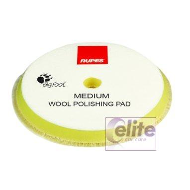 Rupes 100mm Yellow Medium Wool Polishing Pad 9.BW100M