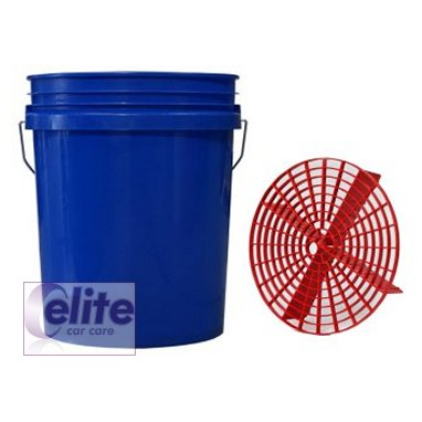 Elite Premium 5 US Gallon BLUE Bucket and Grit Guard