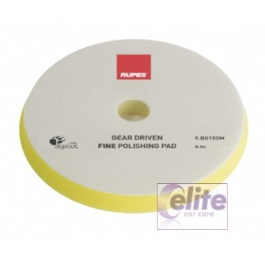 Rupes Mille 150mm Yellow Fine Foam Polishing Pad 9.BG150M