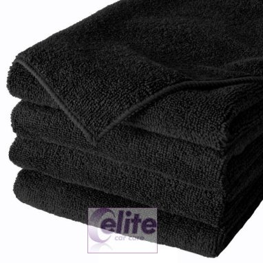 Black Microfibre Cloths - Multi Purpose - Pack of 10