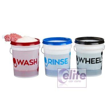 Gtechniq Wash Rinse Wheels Bucket Sticker Kit