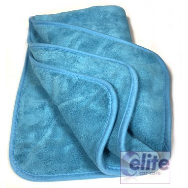 Elite Plush Coral Blue Drying Towel 50x80