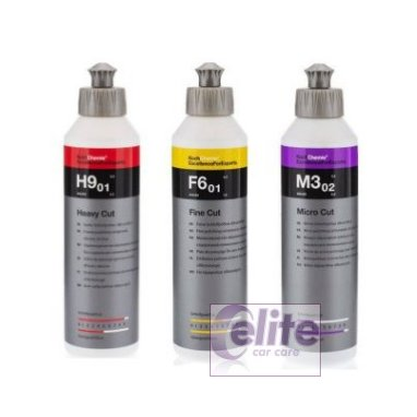 Koch Chemie 250ml Polish Sample Kit - H9 F6 & M3
