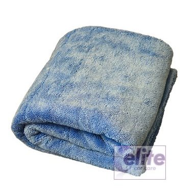 Elite Dual Sided Triple Twist XL Blue Drying Towel 70x90cm