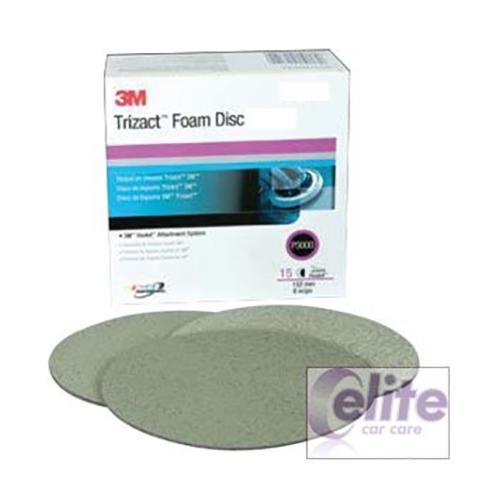 3M Trizact 6000 Fine Foam Finishing Disc 150mm (single)