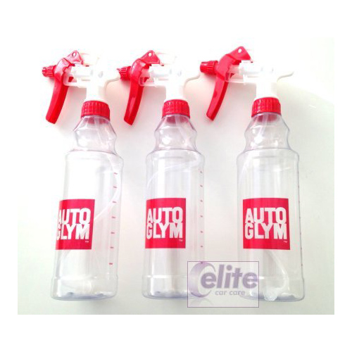 Autoglym 500ml Bottle & Spray Head - Pack of three
