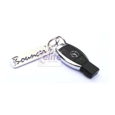 Bouncer's Heavyweight Stainless Steel Logo Keyring