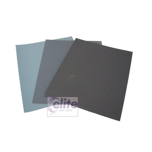 Elite Wet or Dry Finishing Abrasive Papers 1500 Grade - 3 pack