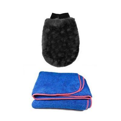 Elite Safe Wash Mitt and Drying Towel Kit