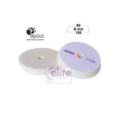 Rupes 100mm White Ultra Fine Foam Soft Finishing Spot Pad