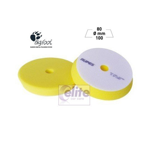 Rupes 100mm Yellow Fine Foam Medium Polishing Spot Pad