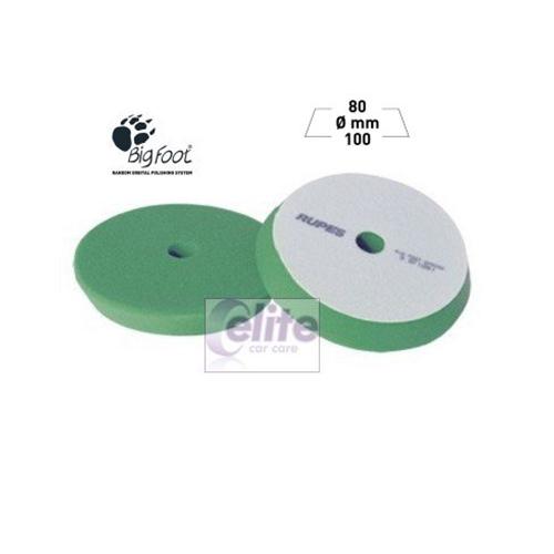 Rupes 100mm Green Medium Foam Intermediate Polishing Spot Pad