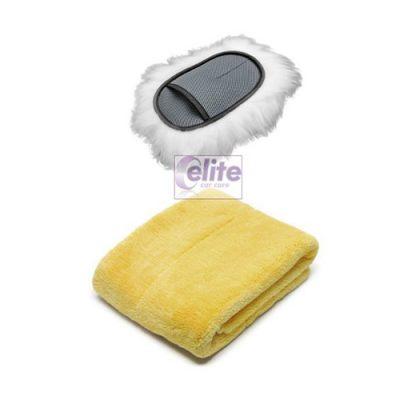 Elite Luxury Swirl-free Wash Mitt and Drying Towel Kit